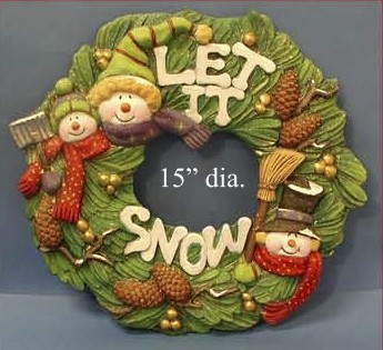 "Kerst Krans ""Let it Snow"""