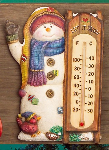 "Thermometer ""Sneeuwman"" incl. thermometerstaafje"
