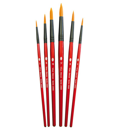 Professionele brush set rond