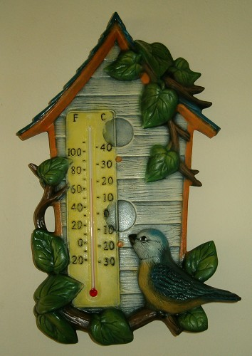 "Thermometer ""Vogelhuisje"" incl. thermometerstaafje"